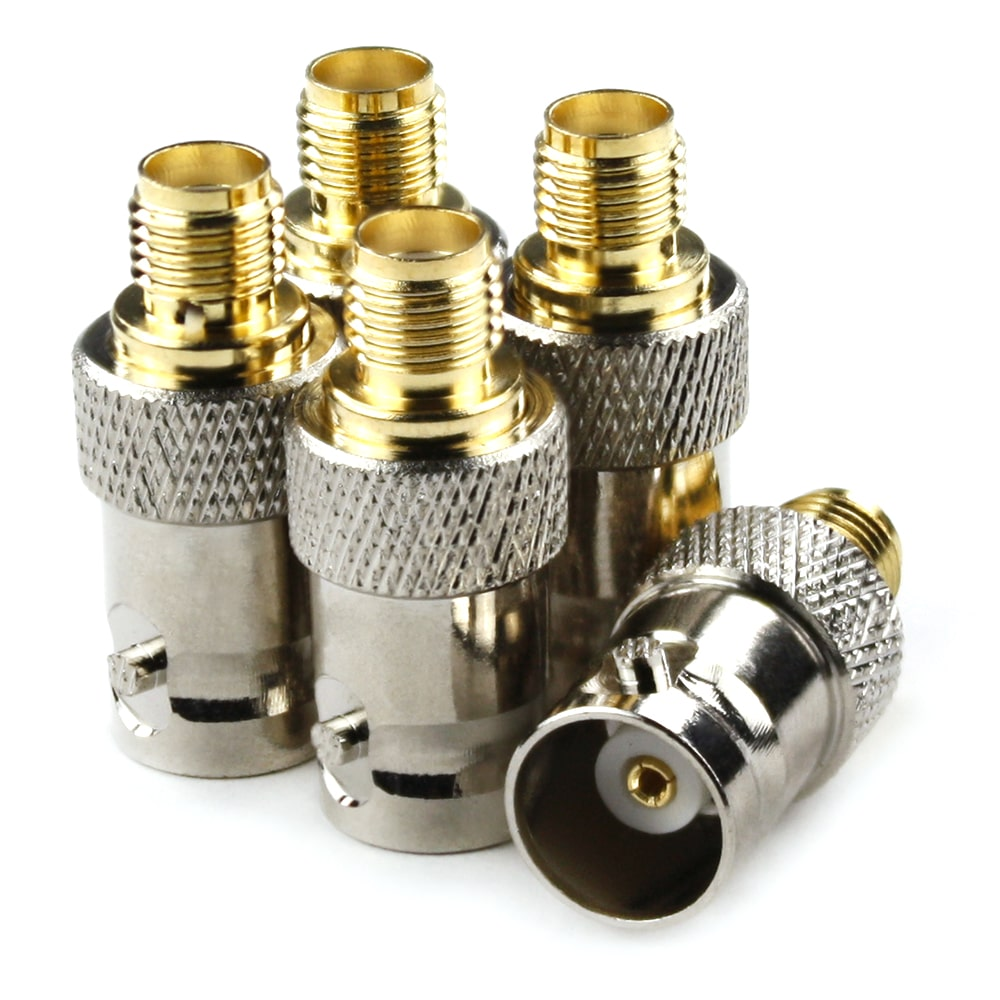Female BNC to Female SMA connectors<br>(5 Pack)